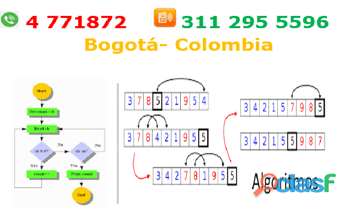 Clases particulares de algoritmos y lógica de programación, psint , dev, c, c++, aduino, c#, visual