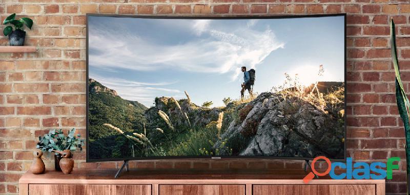 "Televisor samsung 55"" pulgadas nu7300 curvo smart 4k uhd"