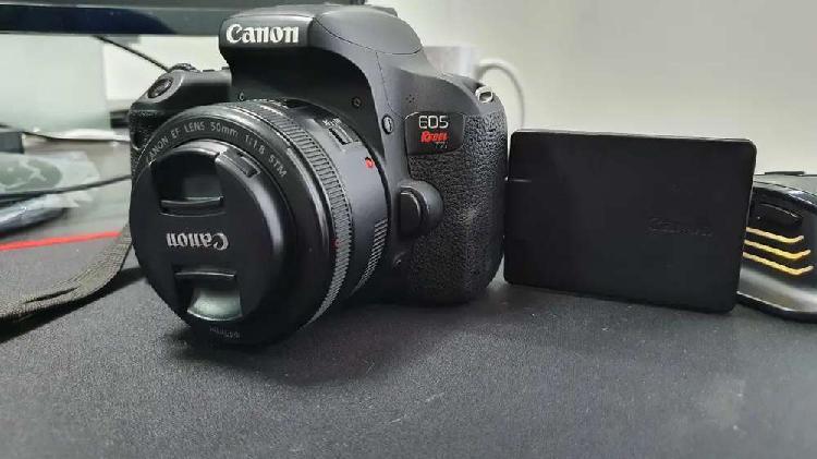 Canon t7i full como nueva. + lente 50mm