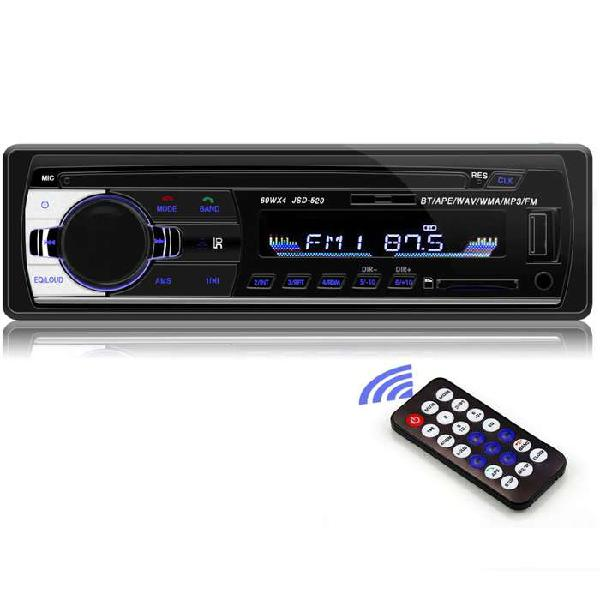 Radio carro 1din control bluetooth mp3 usb sd fm 4x60w audio