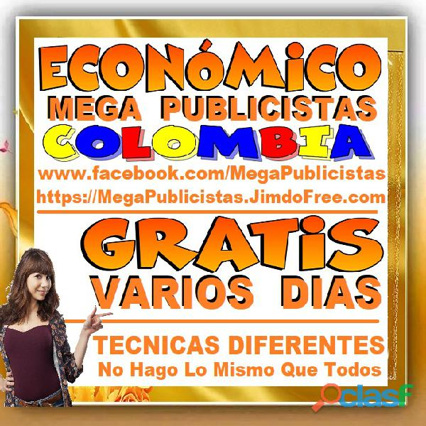 ⭐ GRATIS, Mega Publicistas CARTAGENA, Super Publicista, Ultra Agencia Publicidad, Marketing Digital,