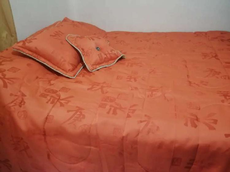 Edredón tendido de cama doble faz - cama doble 1.40 cojines