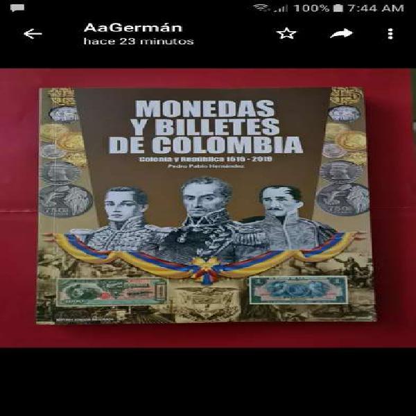 Catálogo monedas y billetes de colombia