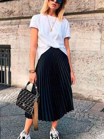 Nueva divina falda larga plizada