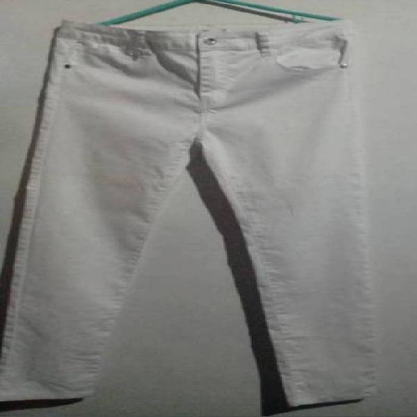 Pantalon blanco strech ela.