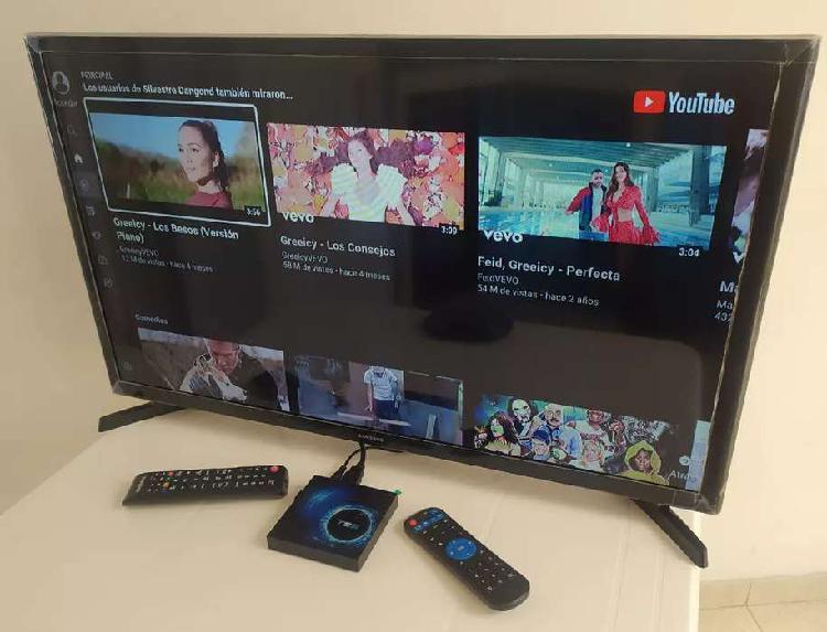 Tv led samsung 32 pulgadas con tv box android 10