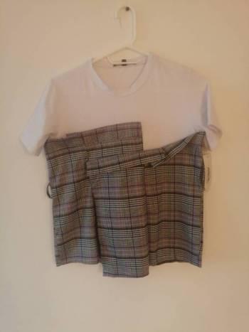 Camiseta blanca - gris