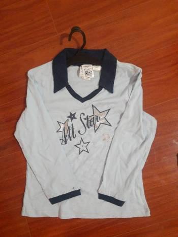 Camiseta manga larga azul claro x2