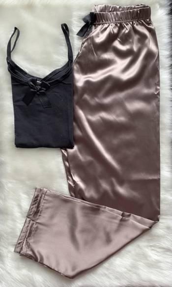 Pijama satin color cobre