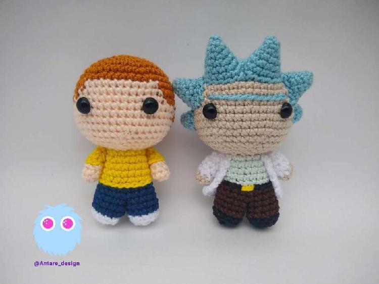 Rick y Morty amigurumi