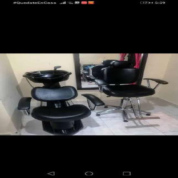 Se vende silla y lavacabezas de peluquería