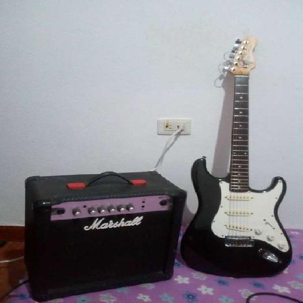 se vende combo guitarra y amplificador marshall