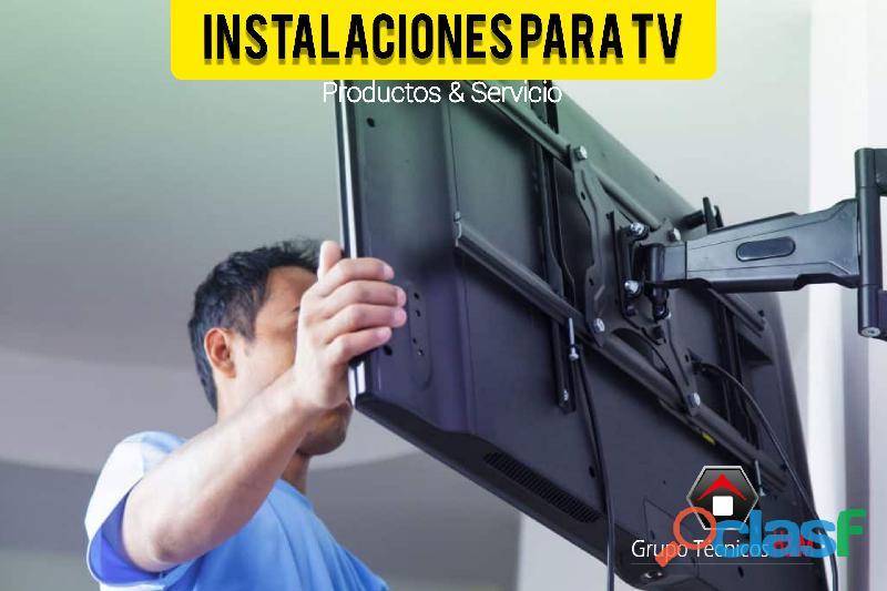 Soportes para tv en chía cundinamarca, cajicá, servicio de instalaciones de televisores