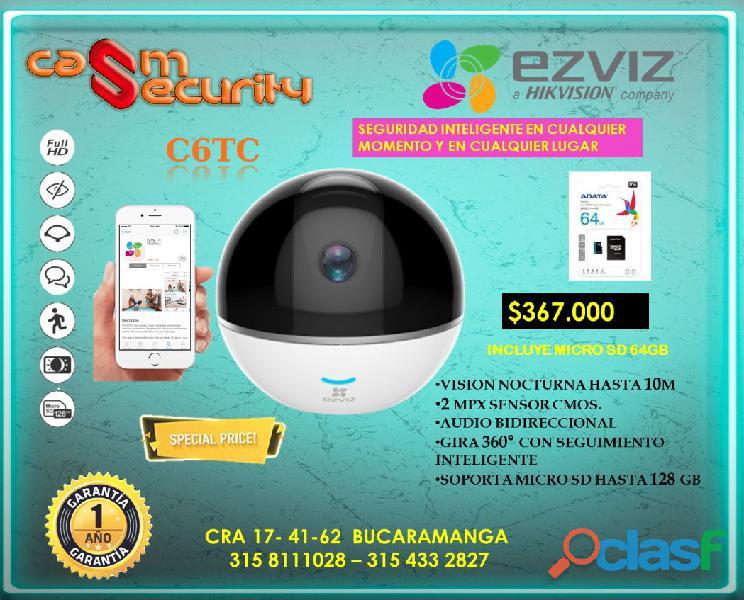 Camara inalambrica wifi 360° memoria micro sd hasta 64gb