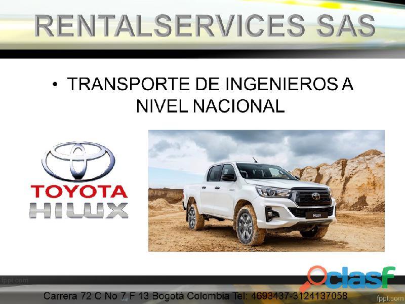 ALQUILER DE CAMIONETAS 4X4 A NIVEL NACIONAL 1