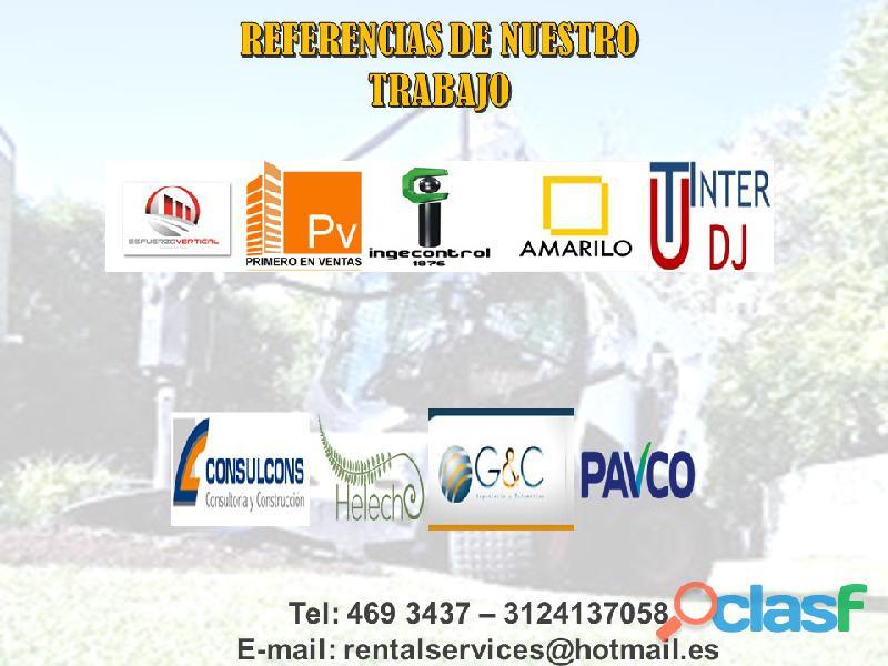 ALQUILER DE RETROEXCAVADORAS A NIVEL NACIONAL 1