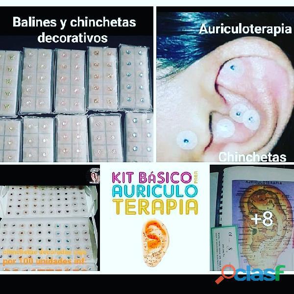#Balines, #chinchetas, #semillas, Kit de auriculoterapia 8