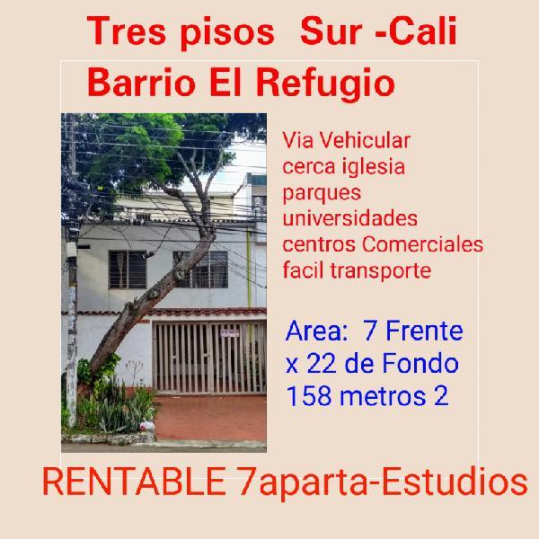 INVierta 3 Pisos con apartaestudios