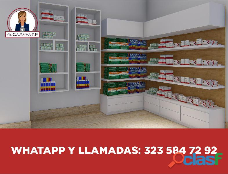 vitirnas exhibidores estanterias drogueria