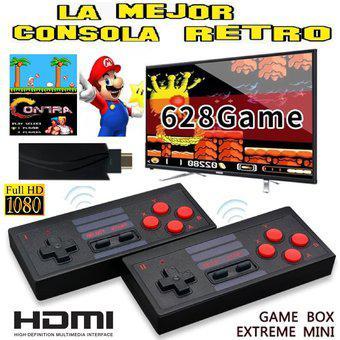 Mini consola tipo hdmi inalámbrica retro 628 videojuegos, 2