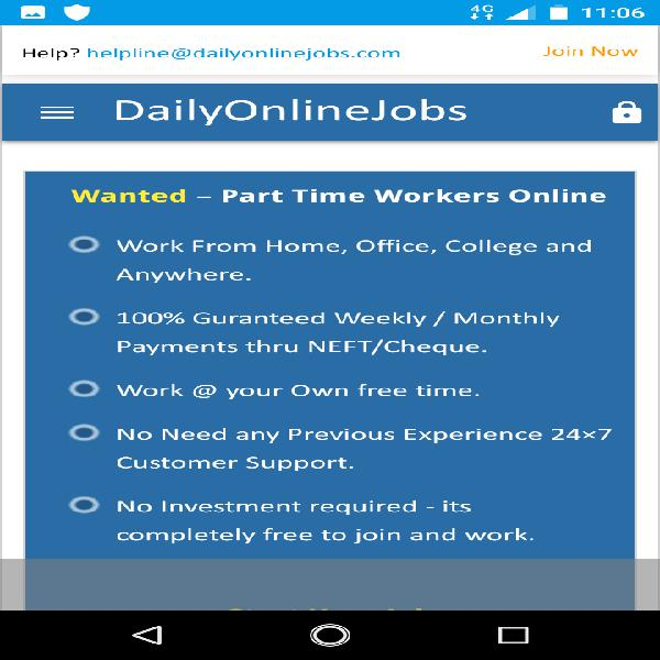 We are hiring - earn rs.15000/- per month - simple copy