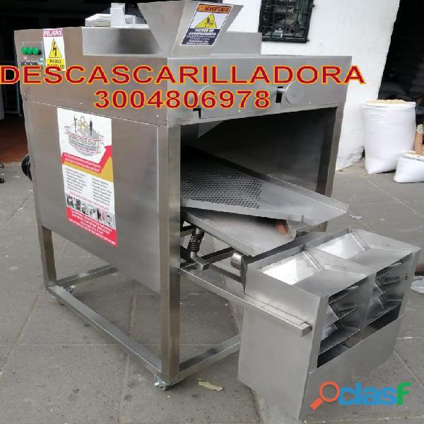 descascarilladora de cacao en acero