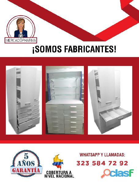 Linea de vitrinas y muebles para farmacias