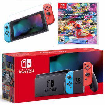 Consola nintendo switch neon nueva version + mario kart 8