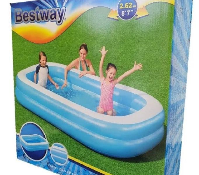 Vendo piscina rectangular bestway azul 2.62m, 8.7''