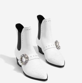 Botas stradivarius blancas