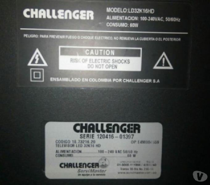 Televisor challenger 32 repuestos
