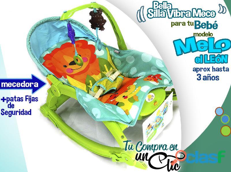 Silla vibradora y mecedora de bebé, calma, arrulla, evita el reflujo. hasta +3años