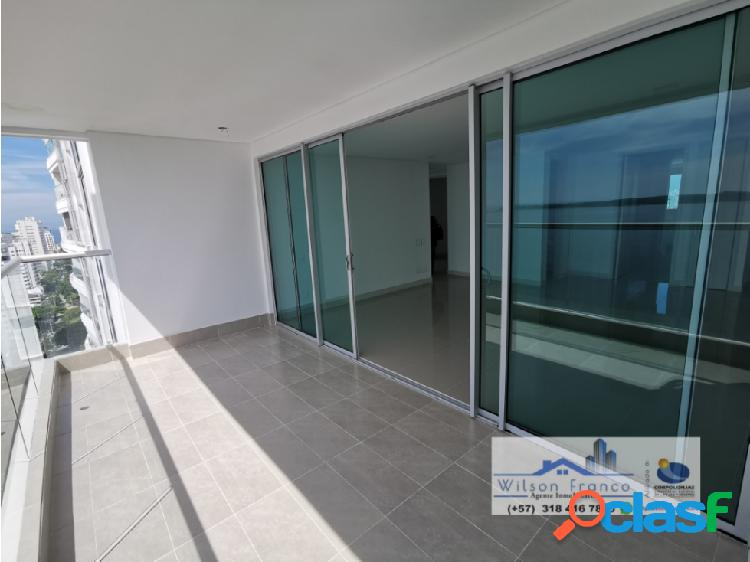 Apartamento nuevo en venta, castillogrande, vista al mar, cartagena