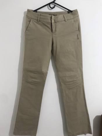 Pantalón drill beige