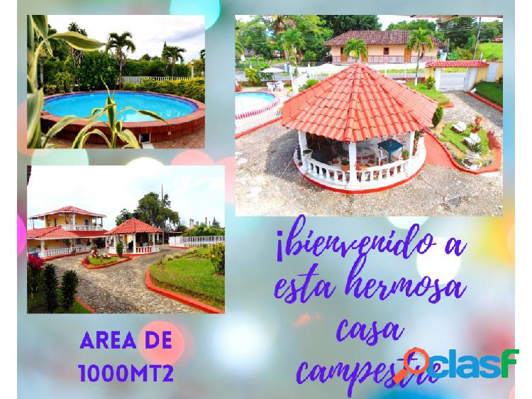 Casa campestre para la renta, mensual hermosa 9467