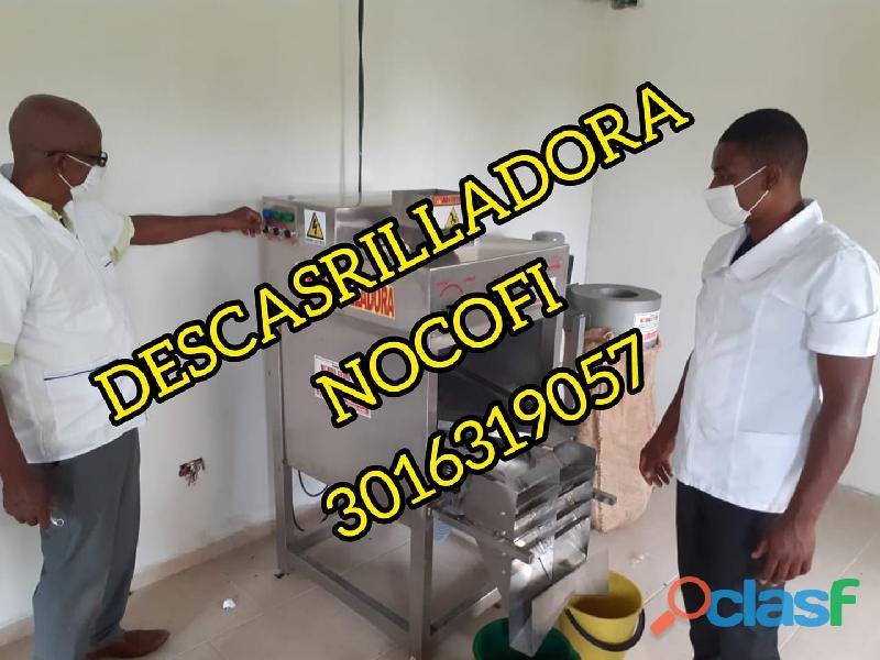 DESCASCARILLADORA INDUSTRIAL ELECTRICA Y EN ACERO PARA CACAO