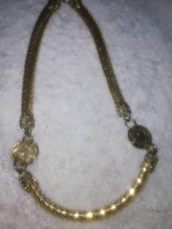 Espectacular collar dorado napoleón