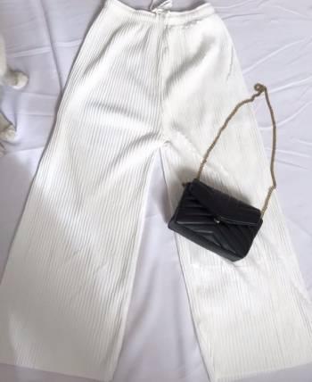 Pantalon culotte blanco