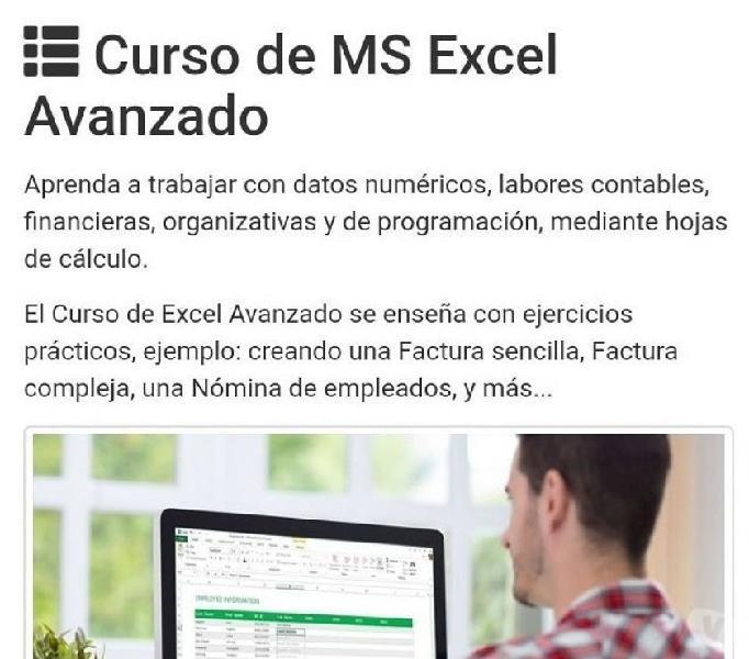 Curso de Excel Avanzado en Villavicencio