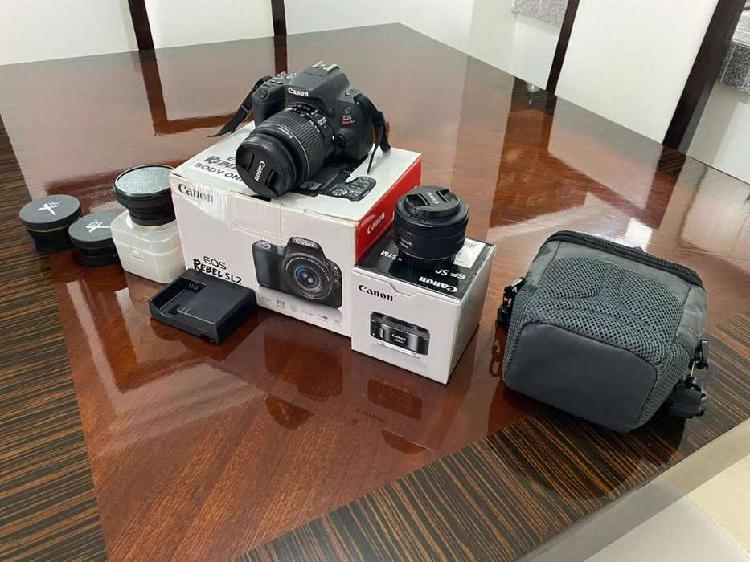 Camara canon sl2 con accesorios - perfecto estado