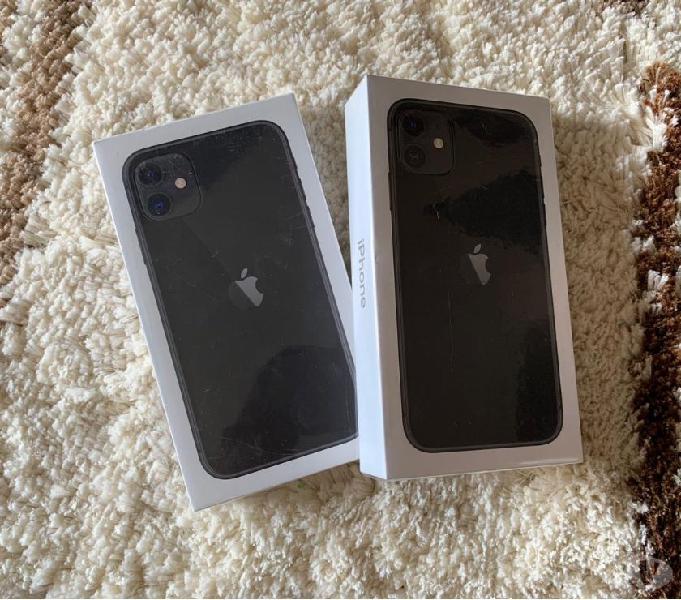 iPhone 11 64GB Nuevo, color negro, desbloqueado.