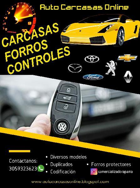 Carcasas Llaves Controles Remotos Alarmas para Carros