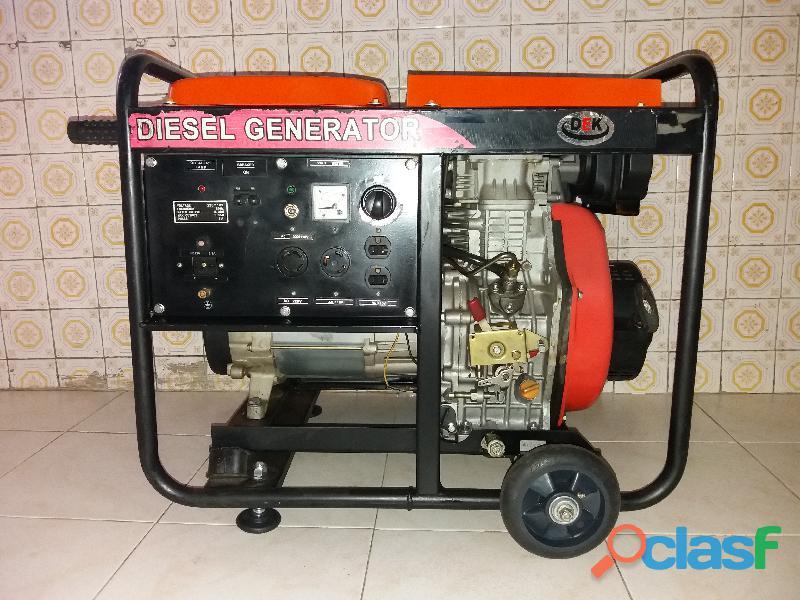 Generador Planta eléctrica Diesel DEK 5000CLE