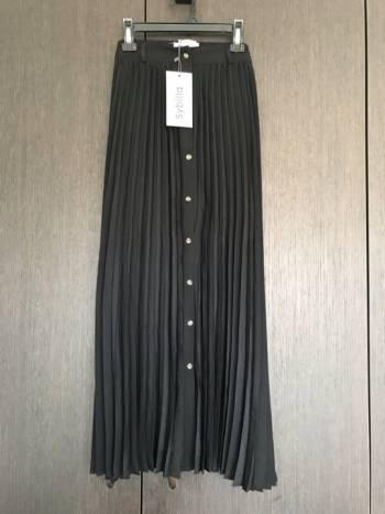 Falda larga plisada sibilla