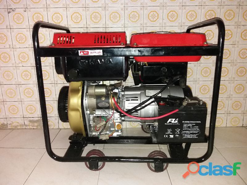 Generador planta electrica KAMA KDE6500E