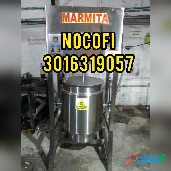 Maquina marmita con paleta agitadora fabricadas en Bucaramanga