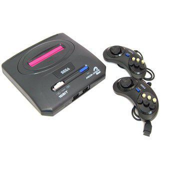 Consola de video juegos sega mega drive negra