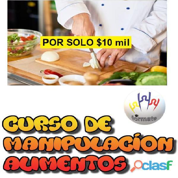 CURSO PRESENCIAL DE MANIPULACIÓN DE ALIMENTOS