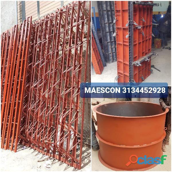 Parales, cerchas, formaleta metálica para construcción