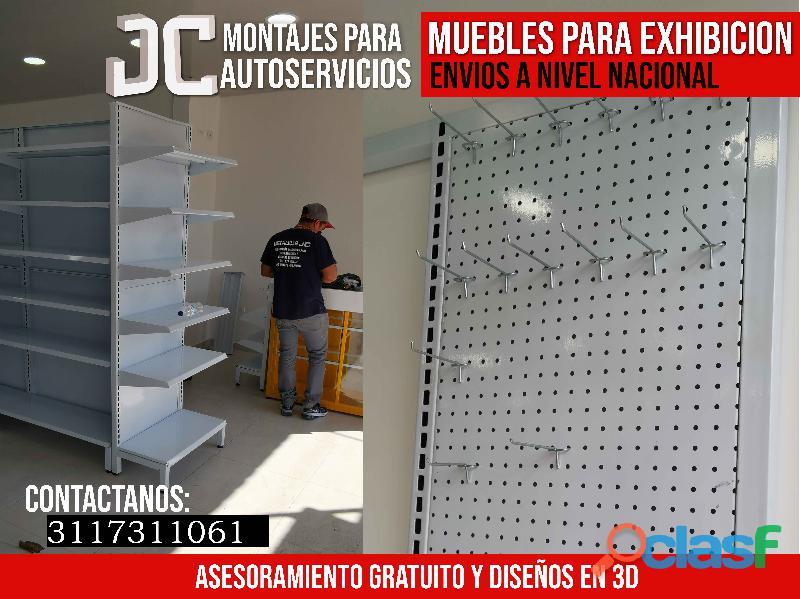 Gancheras Y Muebles Para Montajes De Supermercado.